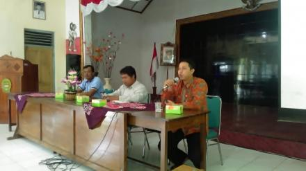 Sosialisasi Tahapan Pemilu 2019 dari KPU Kabupaten Bantul di Desa Tirtosari