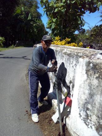 Pemasangan Pathok Tanah SG