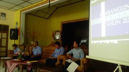 Sosialisasi Pembangunan Desa Tirtosari di Tahun 2020