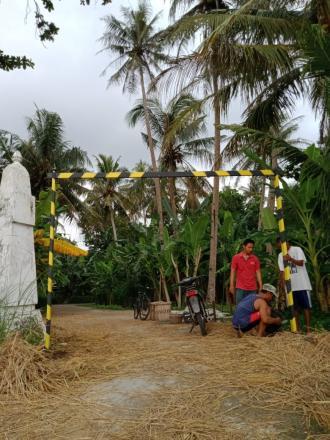 Pemasangan Portal di Dusun Mulekan II